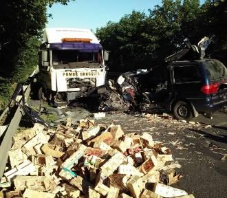 Śmiertelny wypadek w Łapalicach. Zginął 35-letni mężczyzna [ZDJĘCIA]