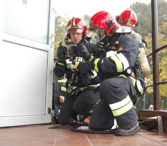 Akcja strażacka w szpitalu w Dzierżążnie FOTO
