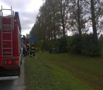 Wypadek w Golubkach. Dwie osoby zostały ranne [ZDJĘCIA]