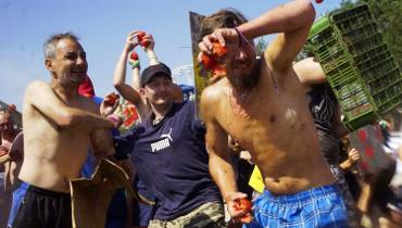 Pomidorowa bitwa na Woodstocku [ZDJĘCIA, WIDEO]