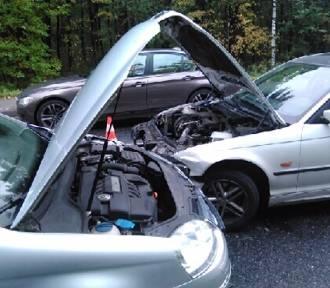Chrzanów.Zderzenie trzech samochodów na ul. Oświęcimskiej [ZDJĘCIA]