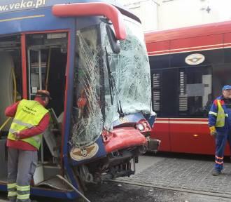 Zderzenie tramwajów na Pl. Wolności. Są ranni