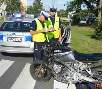 Szalony rajd pijanego motocyklisty zakończył się wypadkiem i pożarem na ul. Kaliskiej! [WIDEO]