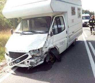 Wypadek pod Sumkami. Zderzyły się cztery pojazdy [ZDJĘCIA]