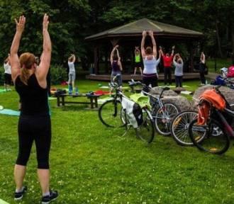 Maraton zumby w parku w Wejherowie
