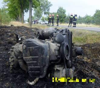 Wypadek pod Sieradzem [ZDJĘCIA i FILM]