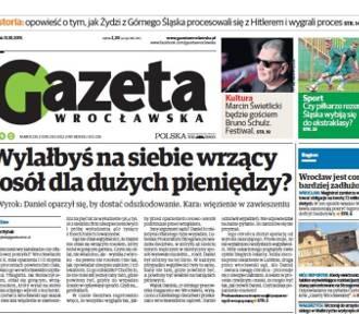 Dziś w Gazecie Wrocławskiej: ubezpieczeniowi kamikadze, Boniek nagrodził Nawałkę
