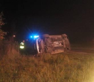Wypadek w Alwerni. Audi dachowało [ZDJĘCIA]