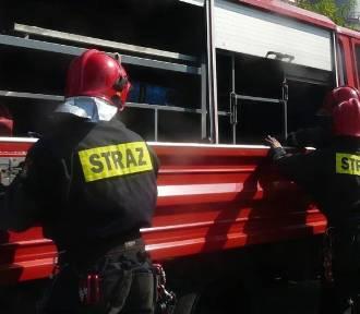 Olsztyn: nocny pożar w budynku przy ul. Niepodległości