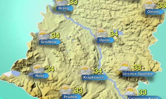 Pogoda dla Opola i Opolszczyzny. We wtorek burzowo i upalnie