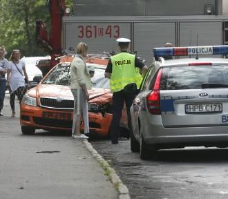 Wypadek na ulicy Złotoryjskiej w Legnicy (ZDJĘCIA)