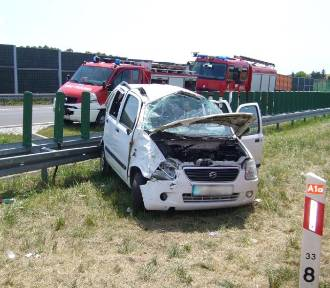 Wypadek na A1. 9-latek zabrany śmigłowcem FOT
