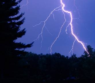 Uwaga. Ostrzeżenie przed burzami