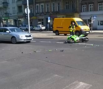 Ranny motocyklista na Głogowskiej [FOTO]