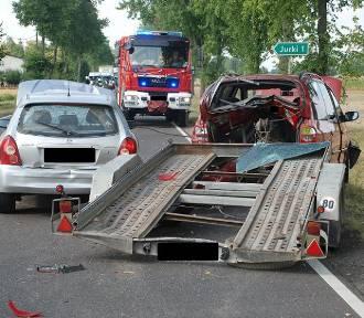 4 pojazdy zderzyły się na K-19