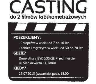 Casting do dwóch filmów krótkometrażowych. Spróbuj swoich sił w aktorstwie!