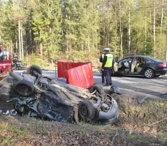 Śmiertelny wypadek w Hopowie. Na drodze krajowej nr 20 zginął 47-latek [ZDJĘCIA, WIDEO]