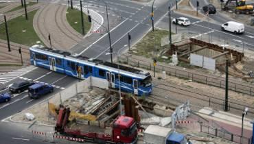 Kraków. Przebudowa ronda znów się przedłuży [ZDJĘCIA]