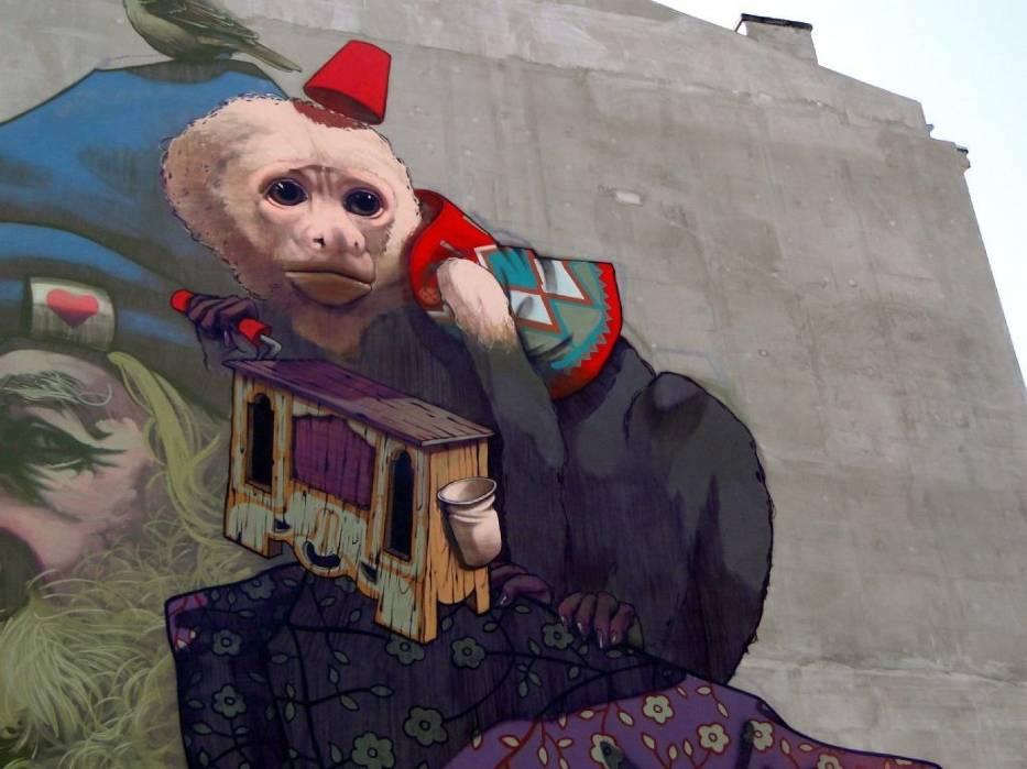 Arty ci z etam cru sko czyli mural na muranowie for Mural warszawa 44