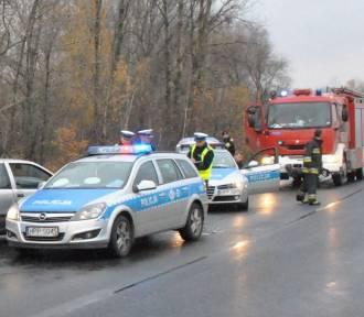Wypadek radiowozu w Sosnowcu. W samochód wjechało punto