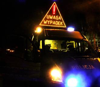 Wypadek w Solcu, zablokowana droga 74