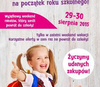 Weekend rabatów na początek roku szkolnego!