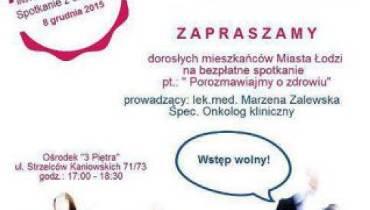 Bezpłatne spotkanie z onkologiem w Łodzi
