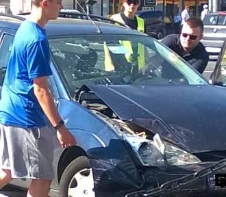 Wypadek na skrzyżowaniu Grójeckiej i Wawelskiej [ZDJĘCIA, WIDEO]