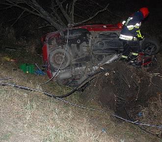 Wypadek w Lesku. Zginął kierowca samochodu [ZDJĘCIA]