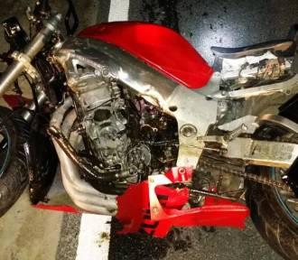 Motocyklista zginął po zderzeniu z ciężarówką