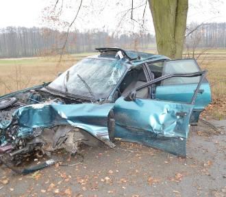 Tragiczny wypadek pod Rawą Mazowiecką. Kierowca uderzył w drzewo