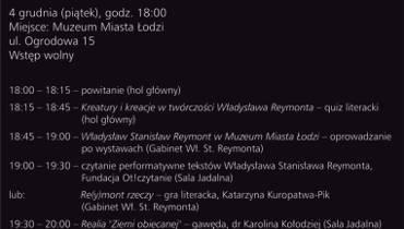 90. rocznica śmierci W. Reymonta. Muzeum Miasta Łodzi zaprasza na