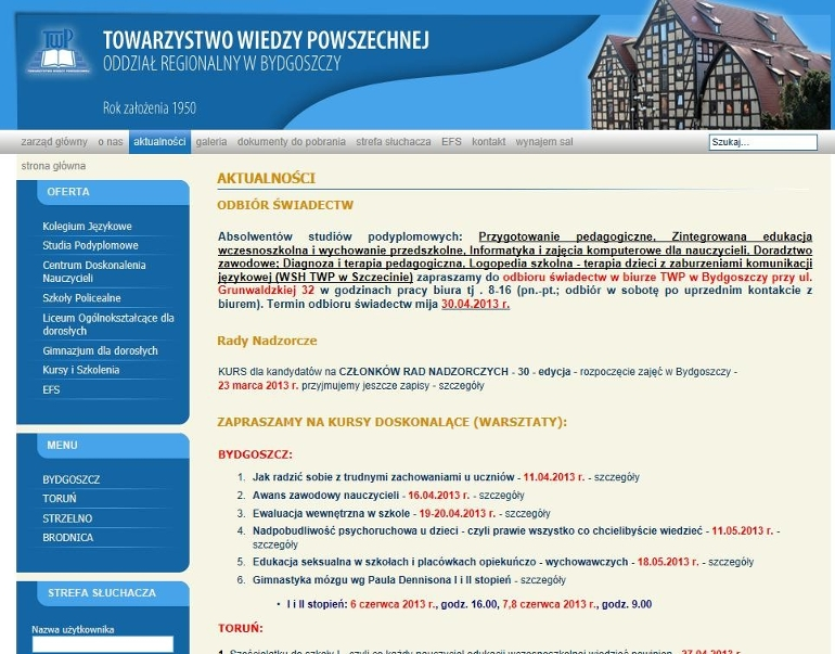 Liceum Ogólnokształcące dla Dorosłych Towarzystwa Wiedzy Powszechnej w Bydgoszczy