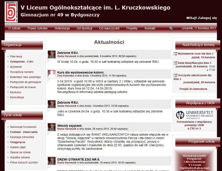 V Liceum Ogólnokształcące im. Leona Kruczkowskiego w Bydgoszczy