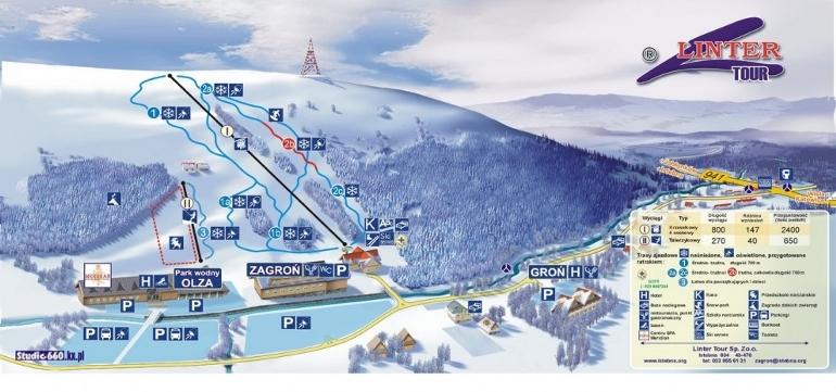 Istebna: Wyciąg narciarski Zagroń