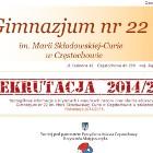 Gimnazjum nr 22 im. Marii Skłodowskiej – Curie