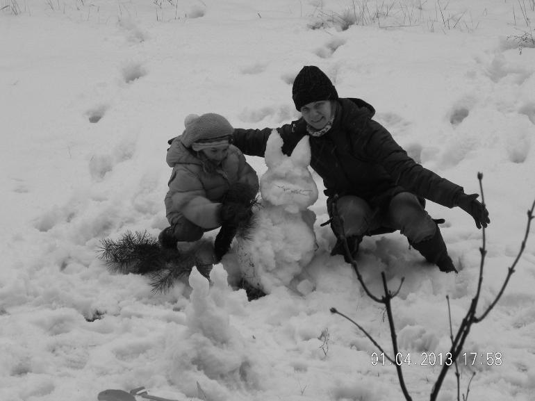 zabawy na śniegu!!