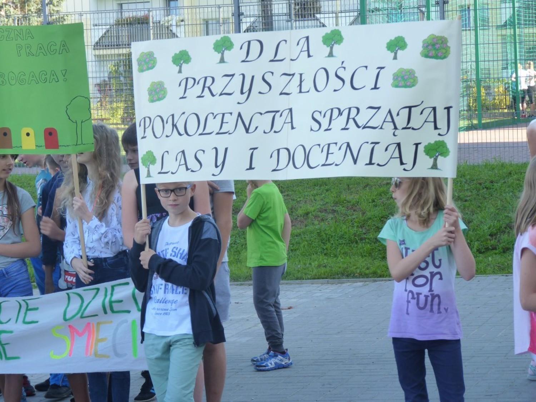 Happening ekologiczny w SP 18 w Koszalinie