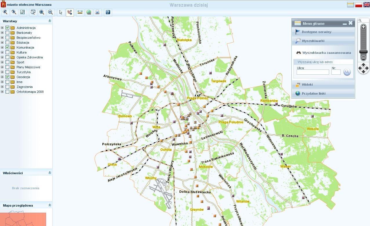 um warszawa mapa Warszawa Mapa Historyczna   NaszeMiasto.pl