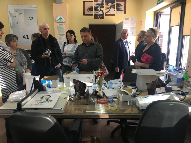 Wizyta studyjna gości z Bielska Białej w Spółdzielni Socjalnej VIVO w Koźminie Wlkp. [FOTO]