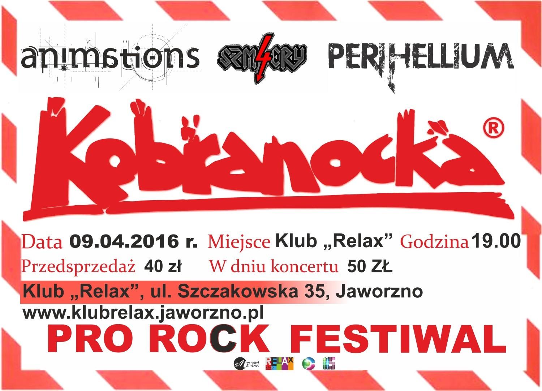 Klub Relax Jaworzno Zbliża Się Pro Rock Festiwal Zagra Min