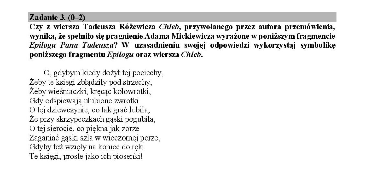 Matura 2018 Język Polski Rozwiązania Była Lalka Różewicz I