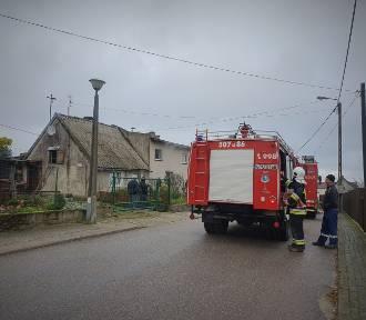 Pożar w Osłoninie. W jednorodzinnym domu wybuchł piec | ZDJĘCIA, WIDEO