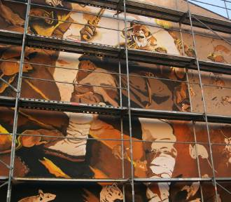 Mural w Kruszwicy prawie gotowy [zdjęcia]