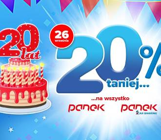 PANEK CarSharing świętuje urodziny i obniża ceny o 20%