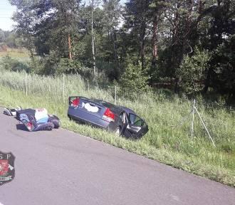 """Na autostradzie volvo uderzyło w """"autostradową"""" furgonetkę"""