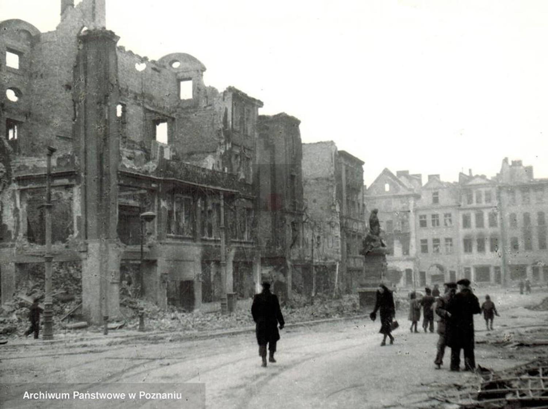 Zniszczony Poznań 1945