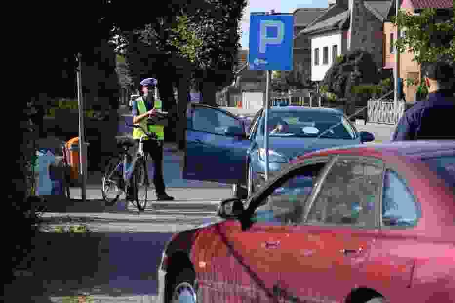 Potrącenie rowerzysty w Rozdrażewie [ZDJĘCIA]