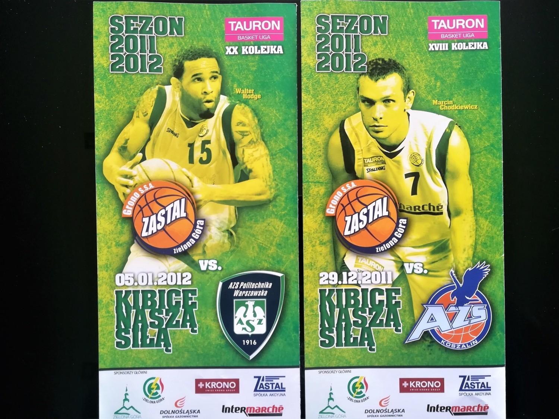 Programy na meczach koszykarzy (2010-13)