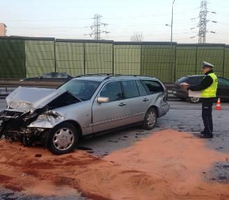Katowice: Wypadek na A4. Jedna osoba ranna [ZDJĘCIA]
